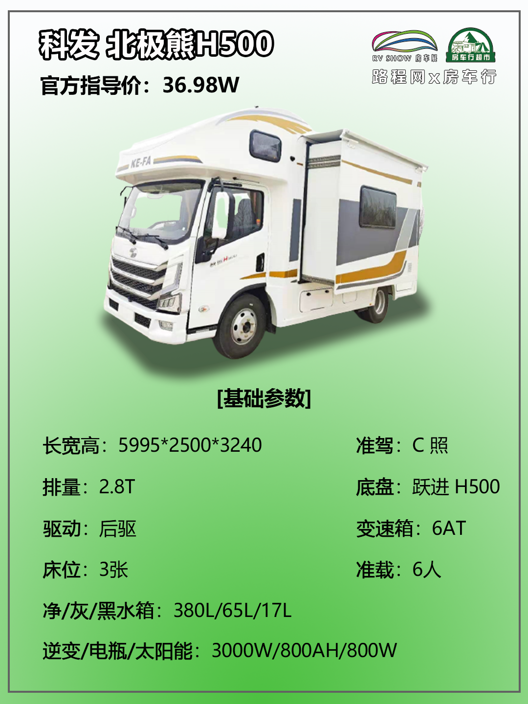 5.27上海房车展:大水大电大空间,科发北极熊H500房车36.98W