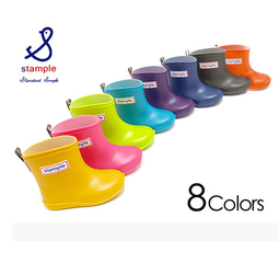 心意久久日本stample宝宝儿童防滑雨靴雨鞋套鞋含鞋垫