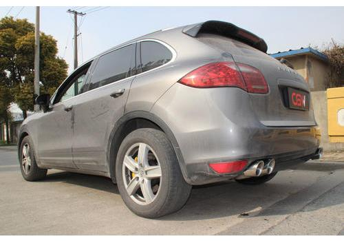 Follow the competitive bloodline Porsche Cayenne modified CGW exhaust