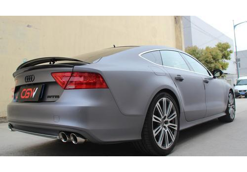 Attack on S7 Audi A7 changed to CGW mid-end exhaust