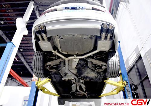 15款奥迪A4 B8 2.0T改装CGW前中尾阀门排气