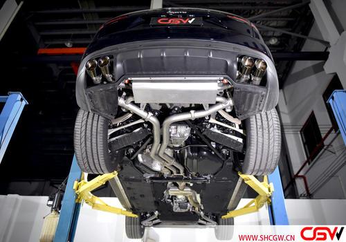 18款卡宴3.0T 改装CGW中尾段阀门排气
