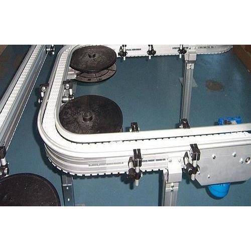 V型柔性链电池输送机