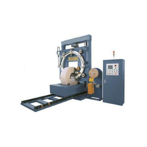 立式钢带缠绕机MT-GD800 自走式缠膜机 压顶式缠绕机