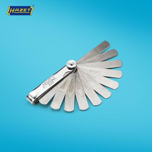 HAZET哈蔡特德国塞尺20件间隙片厚薄规测微片0.05-1mm