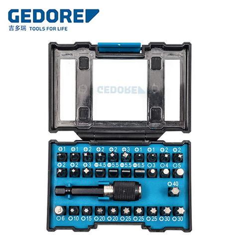 德国吉多瑞(GEDORE)螺丝刀套装32件多功能家用棘轮批头套筒组合电动批咀 32件批头套装 666-032-A
