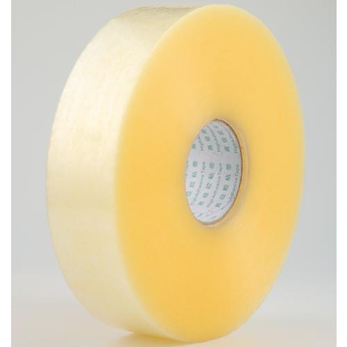 全黄色胶带 不易断 加厚大卷封箱胶带 高黏快递打包胶带