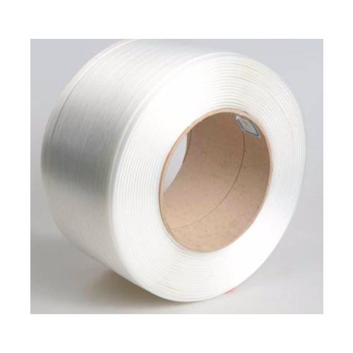 柔性纤维打包带聚酯包芯白色高强度环保出口重货捆绑带批发