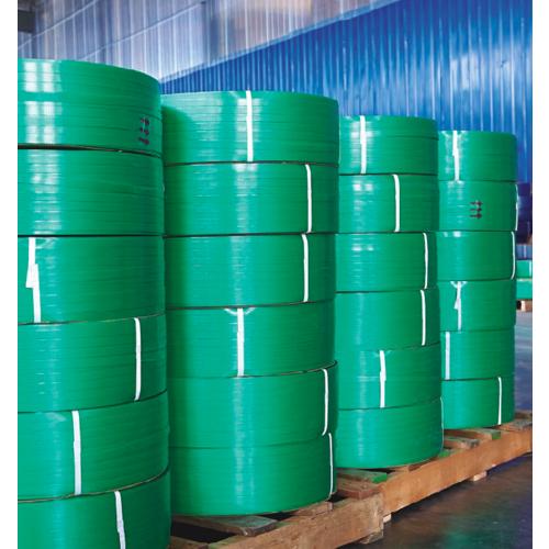 pet塑钢打包带厂家直销塑料包装带1606手工绿色塑钢带打包带