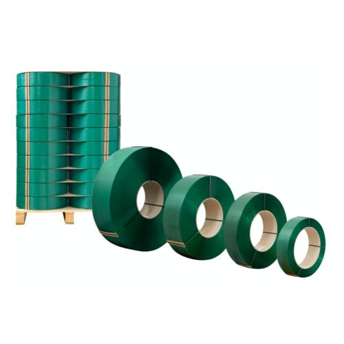 PET绿色塑钢打包带 高强度手工打包带 现货1608/1909热熔打包带