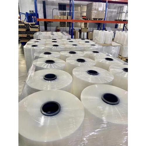 拉伸膜生产厂家 PE透明缠绕托盘打包膜 工业包装塑料围膜