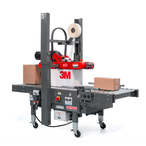 小型自动贴标标签机  打包机封箱机  3M 全自动折盖封箱机800rf3