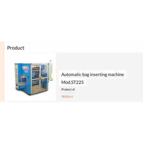 意大利TECO全自动套袋机  透明瓶子套袋机    自动套袋机批发商