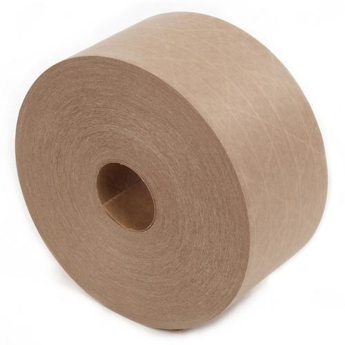 牛皮纸封箱胶纸 湿水夹线封箱牛皮胶纸 供应打包牛皮胶纸