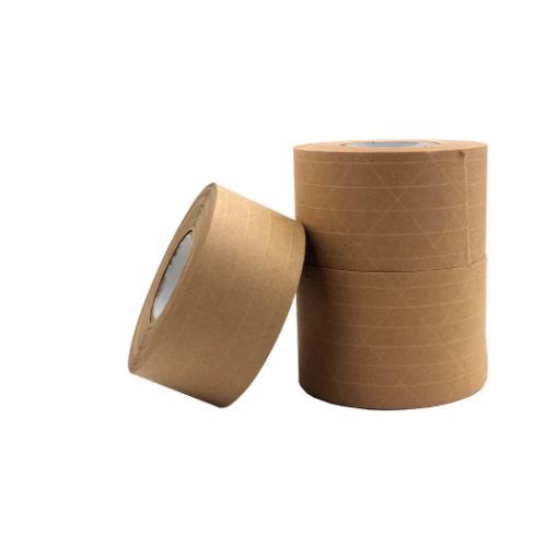 厂家直销湿水有线牛皮纸 加粘环保夹筋牛皮纸皮纸