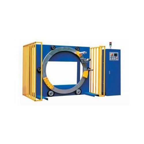 缠绕膜半自动缠绕机 纸箱自动缠绕膜机 防尘外箱裹包机薄膜打包机