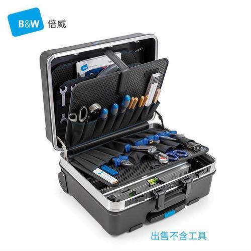 倍威B&W工具箱拉杆箱ABS五金工程师收纳箱114.04升级款120.04