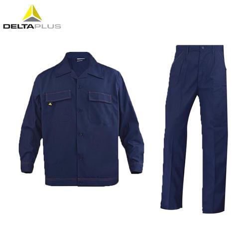代尔塔/DELTAPLUS 405168 长袖工作服全棉防静电工装 轻便透气 藏青色