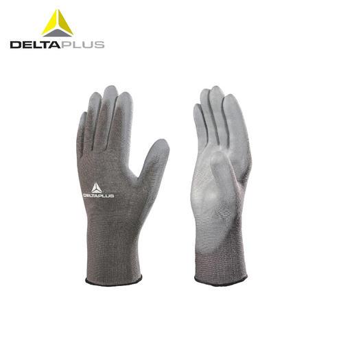 代尔塔/DELTAPLUS 201705 PU涂层13针透气耐磨精细操作手套 灰色