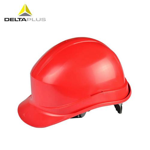 代尔塔/DELTAPLUS 102011 劳保安全帽 建筑工地防砸工厂施工男女防撞头盔 红色