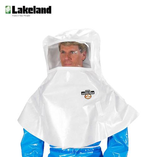 雷克兰防化头罩 C2T-A712 披肩式PVC防酸碱耐腐蚀面屏防护头罩 全面式防化头套 白色