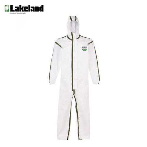 雷克兰(Lakeland) AMN428ETS  工业款防护服 连体带帽防尘防水防液体喷溅服白色 XL