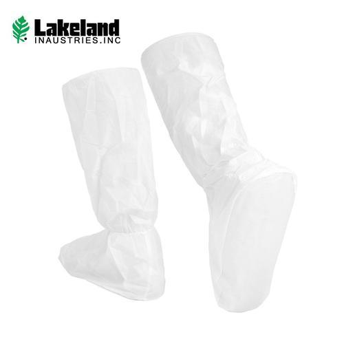 雷克兰(Lakeland)防护靴套 PVC防化靴底 防尘鞋套脚裸处橡胶收口 可搭配防尘服防护服使用 AMN-05长款-1付
