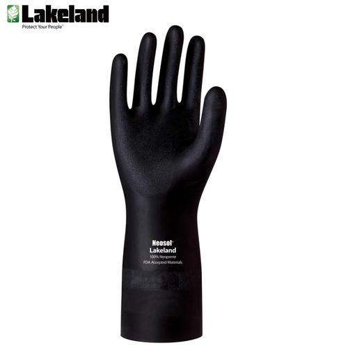 雷克兰(Lakeland)EC30F耐酸碱溶剂防化手套耐油工业劳保手套氯丁腈橡胶防护手套