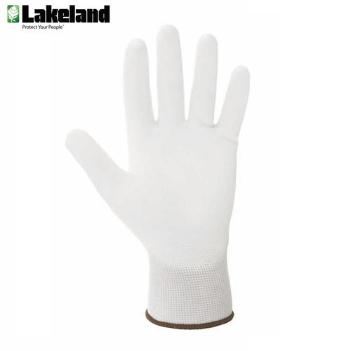 雷克兰(Lakeland)7-3101 劳保手套加厚耐磨白线手套PU涂层防油手套工作线手套劳保防护手套