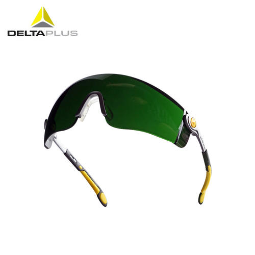 代尔塔/DELTAPLUS 101012 焊接护目镜 焊接焊工防护眼镜 墨绿色 1副装