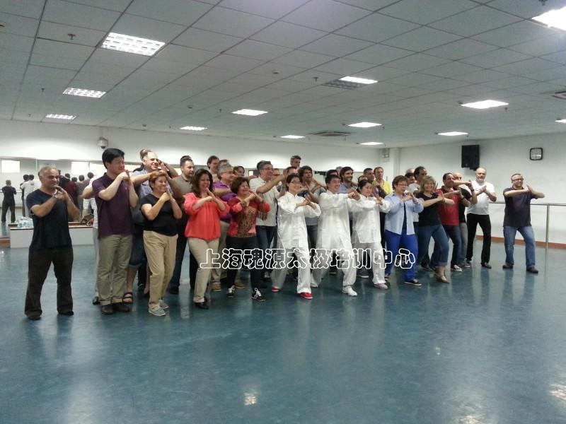 外国人团体太极拳学习活动(全英文)