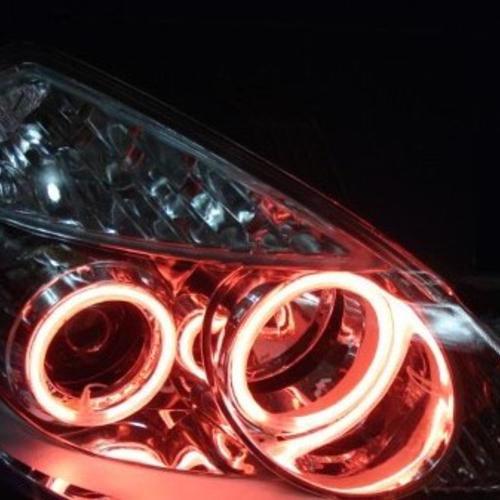 别克君越改灯 低配改海拉三双光透镜氙气灯天使眼 上海蓝精灵车灯改装中心出品