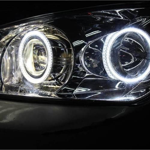 赛拉图改Q5透镜氙气灯 起亚改车灯 上海蓝精灵出品