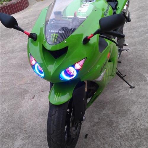 川崎ZX-6r改HID大灯 摩托车改灯 上海蓝精灵改灯中心