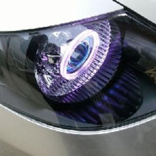 飞度改透镜天使眼氙灯 飞度改灯疝气灯 飞友会改灯找上海蓝精灵改灯