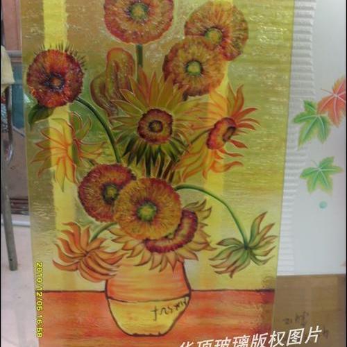 梵高向日葵浮雕