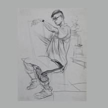 学生速写人物