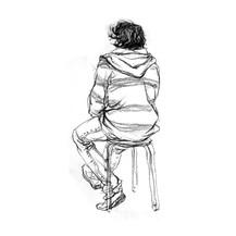 人体速写绘画