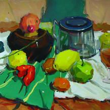餐桌色彩绘画