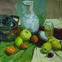 色彩油画美术