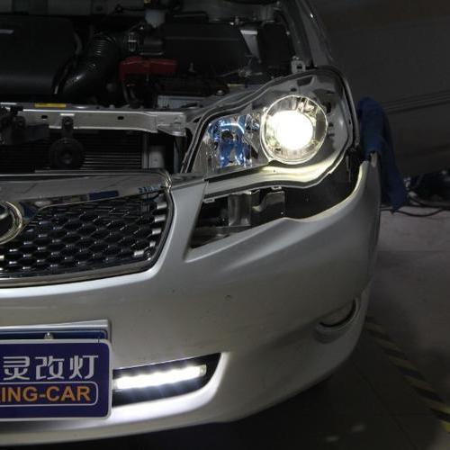 丰田花冠升级Q5双透镜 花冠改透镜氙气灯 上海蓝精灵改灯出品