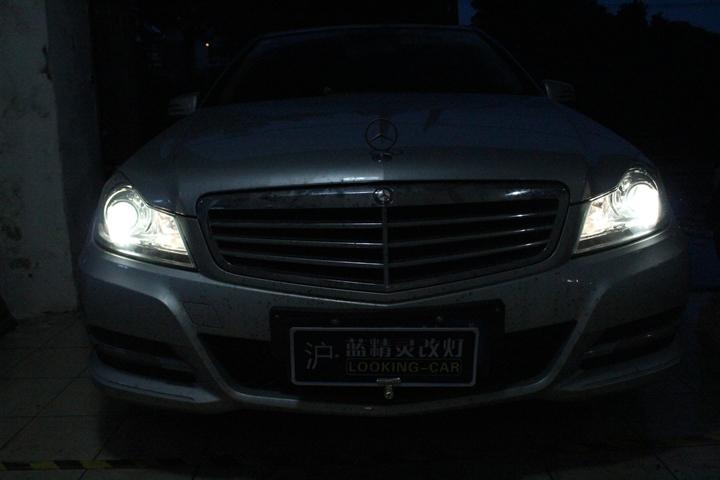 上海蓝精灵改灯奔驰双氙车灯