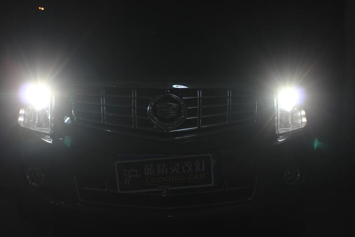 SRX改灯海拉五氙气大灯灯光