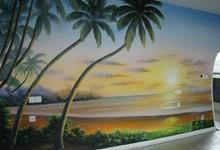 家装电视背景墙手绘
