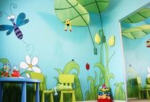 家装儿童房手绘墙