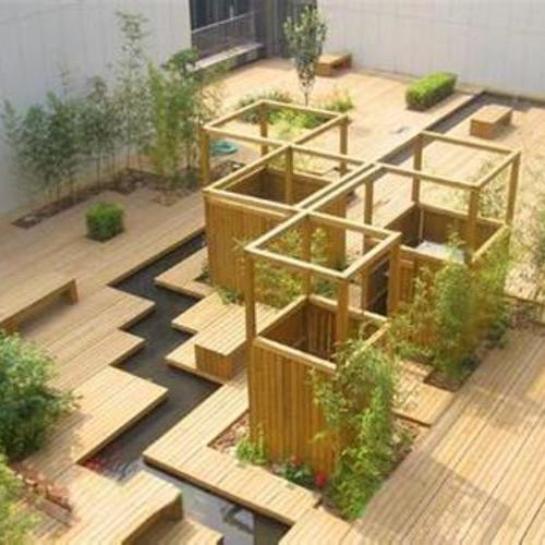 酒店防腐木工程