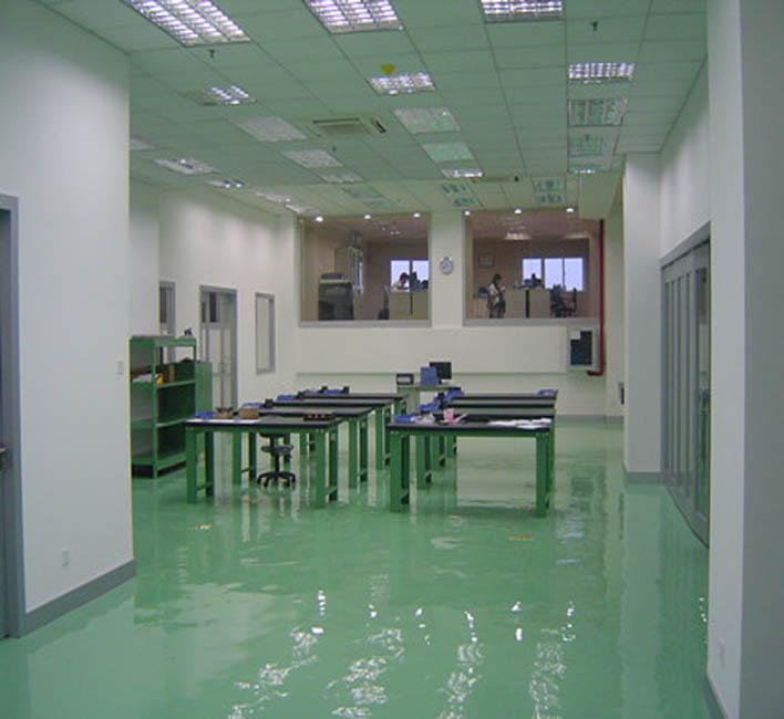 净化厂房环氧地坪铺贴