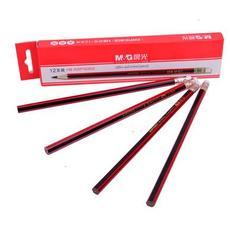 晨光HB木杆铅笔六角红黑抽条AWP30802 整盒12支出售