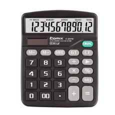 齐心C-837H中台超省钱经典计算器12位双电源计算机黑色