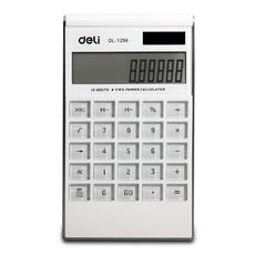 得力1256超薄个性创意太阳能大按键日韩版白色计算器